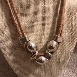 Jewelry - Cork sterling silver necklace & bracelet set